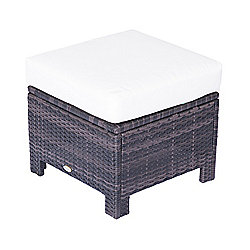 Outsunny Rattan Ottoman Indoor & Outdoor