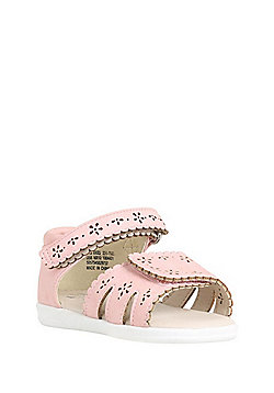 F&F My First Shoes Flower Cut-Out Sandals - Pink