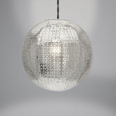 Country Club Metal Light Shade, Nouveau Cadiz Ball Silver
