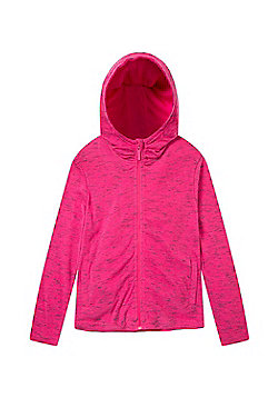 Zakti Girls Cotton Blend Kids Revive Full-Zip Isocool Hoodie in Slim Fit - Pink
