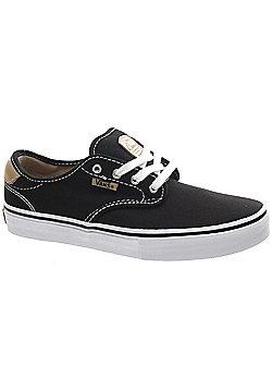 Vans Chima Pro Black/Tan/White Kids Shoe XKZDPE - Black