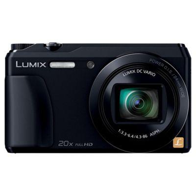 Panasonic Lumix DMC-TZ55 Digital Camera, Black, 16 MP, 20x Optical Zoom, 3