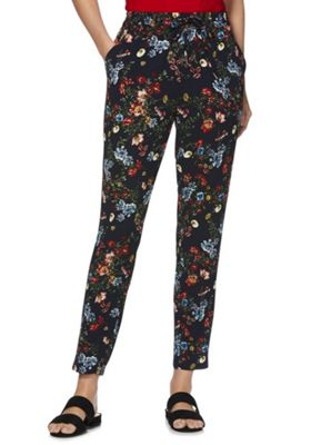 Only Floral Woven Trousers Multi XS