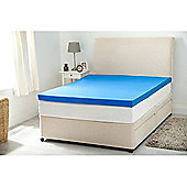 "2"" Single Bed Size Gel Feel Foam Mattress Topper No Cover"