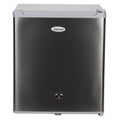 Igenix IG6711 47 Litre 44cm Counter Top Fridge with Lock - Stainless Steel Effect