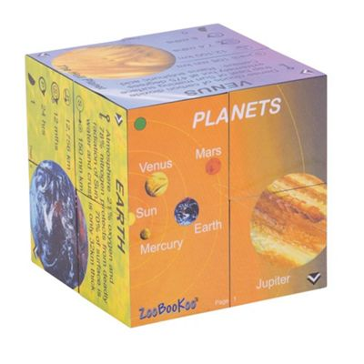 ZooBooKoo Planets Solar System Statistics Cubebook - Fold-Out Cube