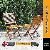 BillyOh Windsor Folding Pack Of 2 Garden Chairs