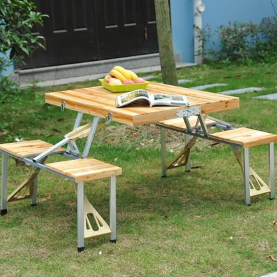 Outsunny Portable Picnic with 4 Chair Set.