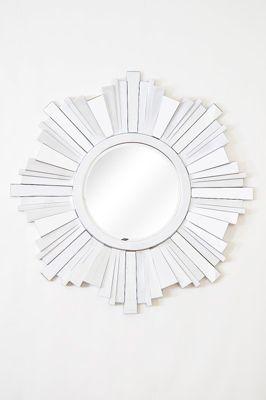 Round Aztec Style 3D Starburst Design Big Modern New Wall Mirror 3Ft 5 (104Cm)