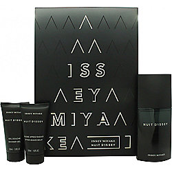 Issey Miyake Nuit d'Issey for Men Gift Set 75ml EDT + 50ml Shower Gel + 50ml Aftershave Balm For Men