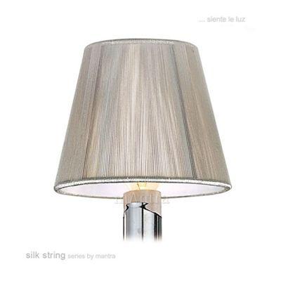 13cm Silk String Clip On Shade Silver Grey
