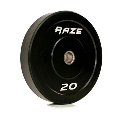 Raze 20kg Black Series Solid Rubber Olympic Plate (x1)