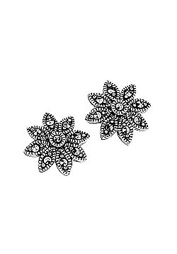 Marcasite Daisy Stud Earrings
