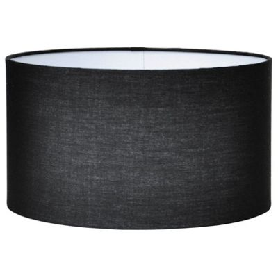 Modern 35cm Black Lamp Shade Poly Cotton Cylinder Drum Shade