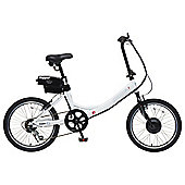 "Hopper Rigid 20"" Electric Bike White"