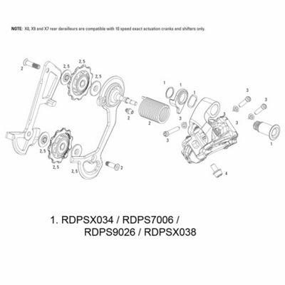 SRAM Hanger Bolt for Rear Derailleur X7 2011 10spd