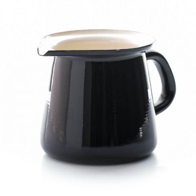 Dexam Vintage Home 400ml Enamel Milk or Cream Jug, Black