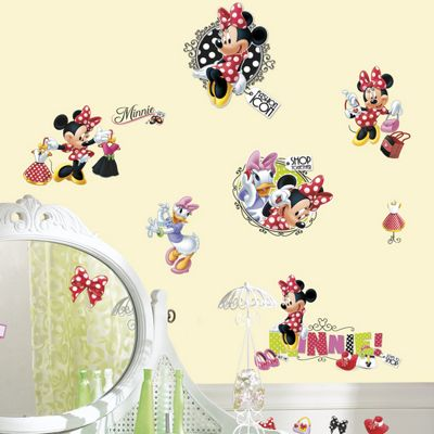 DisneyMinnie Mouse Loves To Shop Wall Stickers