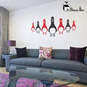 Penguin Army Wall Sticker Set