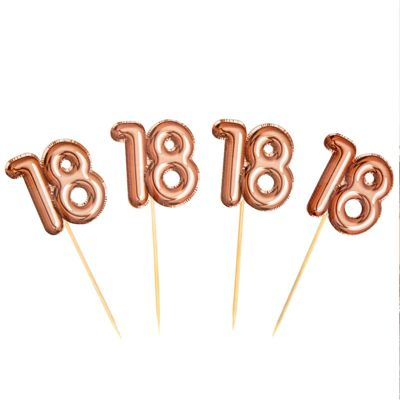 Glitz & Glamour 18th Birthday Cupcake Picks