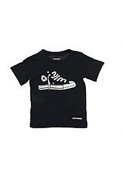 Boys Black Converse All Star T Shirt Avalable Size 4-6 Years - Black