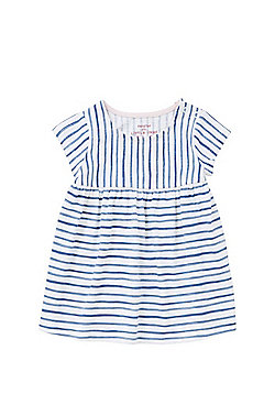 F&F Striped Smock Dress - Navy & White