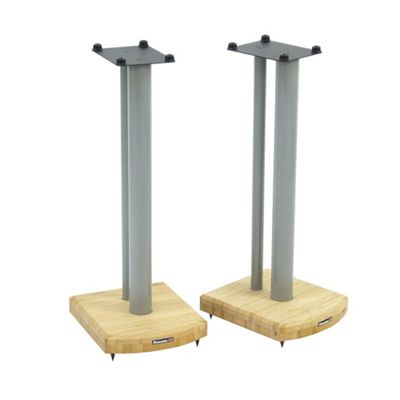 Atacama Moseco 6 Speaker Stands Natural Bamboo Silver Pole