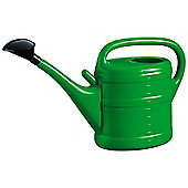 10L Green Plastic Garden Watering Can with Rose