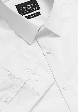F&F Easy Care Slim Fit Shirt - White