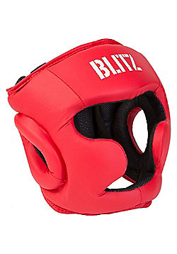 Blitz - Club Full Contact Head Guard - Red