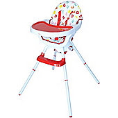 Bebe Style Deluxe 3 in 1 Highchair & Junior Chair & Booster - Red