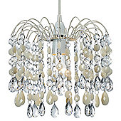 Contemporary Pendant Shade with Cream Acrylic Droplets