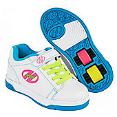 Heelys Dual Up White/Neon Multi Kids Heely X2 Shoe - White