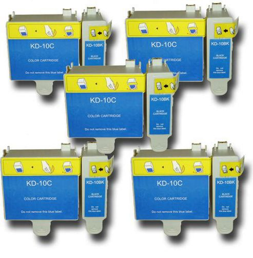10 Chipped Compatible Kodak Easyshare 10 Ink Cartridges