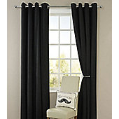 Living or Dining Room Thermal Blackout Eyelet Curtains 66 x 72 in Black