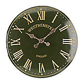 Outside In Westminster Tower Green Wall Clock 15in