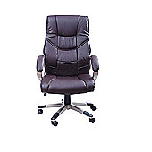 Homcom Computer Office Chair Brown
