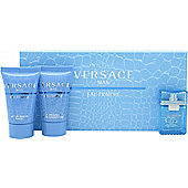 Versace Man Eau Fraiche Gift Set 5ml EDT + 25ml Shower Gel + 25ml Aftershave Balm For Men