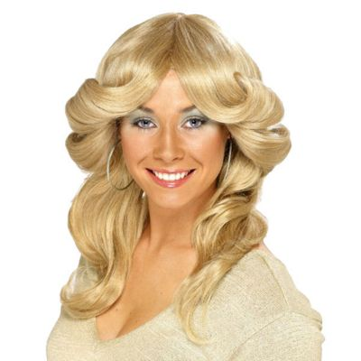 Smiffy's - 70's Flick Wig - Blonde