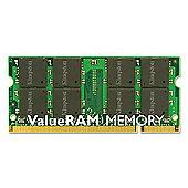 Kingston ValueRAM 2GB (1x2GB) 800MHz DDR2 SDRAM Unbuffered Non-ECC CL6 SODIMM Memory