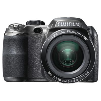 Fujifilm FinePix S4200 Digital Camera Black, 14MP 24x Optical Zoom 3.0 inch LCD screen