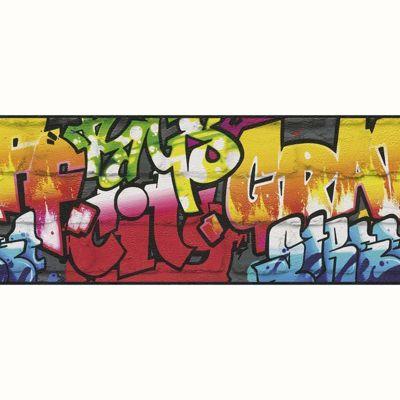 Rasch Graffiti Wallpaper Border - Black 237900