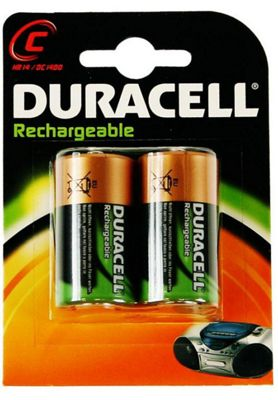 Duracell Rechargeable ACCU NiMH Battery C Pack of 2 15038742