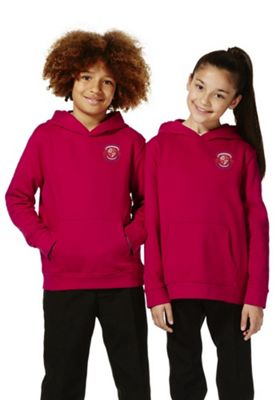 Unisex Embroidered School Hoodie with As New Technology 12-13 years Red