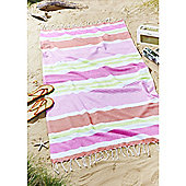 Catherine Lansfield Funky Stripe Beach Towel - Natural