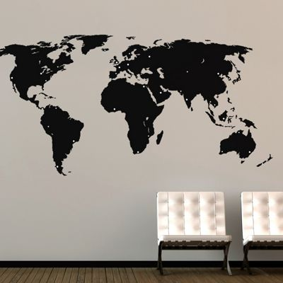 Buy world map wall sticker from our wall stickers murals range we no longer sell this product gumiabroncs Choice Image