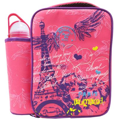 Children's Paris Lunch Bag with Water Bottle