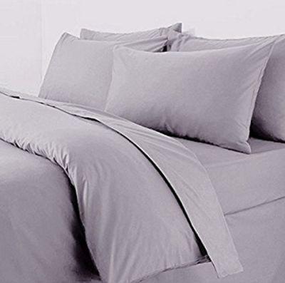 Polycotton Percale Duvet Cover Set Grey - Double
