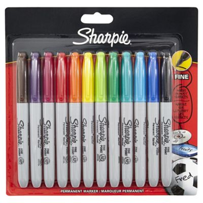 Sharpie Permanent Markers Asstd 12 pack