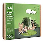 GIGI Bloks Big Interlocking Cardboard Building Blocks (30 Blocks)